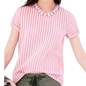 J. Crew Shadow Stripe Top-Size 6